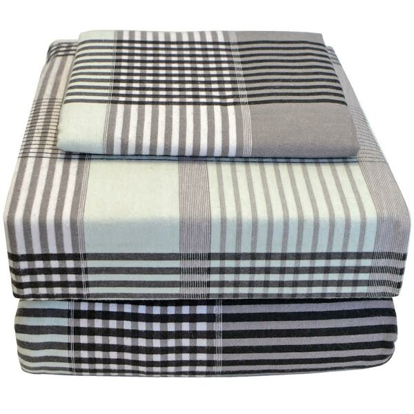100% Cotton Flannel Twin XL Sheet Set by Bare Home